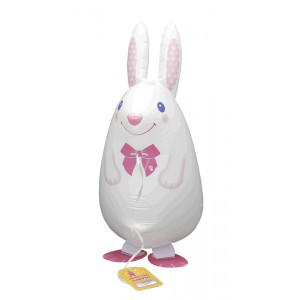 SAG Walking Balloon - Rabbit / White , *SAG-W2404 <Helium #F>