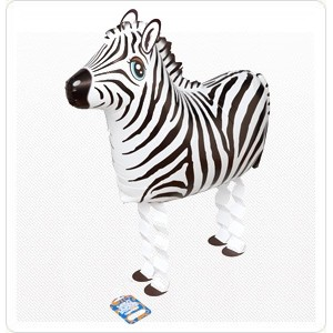 SAG Walking Balloon - Zebra 斑馬 , *SAG-W8833 <Helium #F>