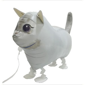 SAG Walking Balloon - White Cat , *SAG-W8844