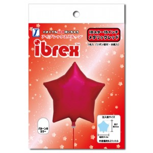 "ibrex Star 15"" 星形 Metallic Red (pkgd.) , TKF15SP333201PK"