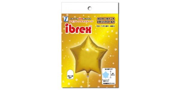 "ibrex Star 15"" 星形 Metallic Gold (pkgd.) , TKF15SP333207PK"